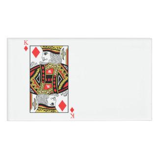 King of Diamonds Name Tag