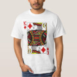 King of Diamonds Playing Card T Shirts