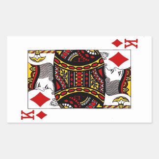 King of Diamonds - Rectangle Sticker