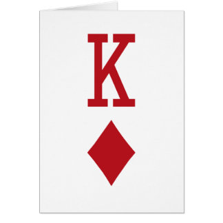 King of Diamonds Red Playing Card Greeting Card