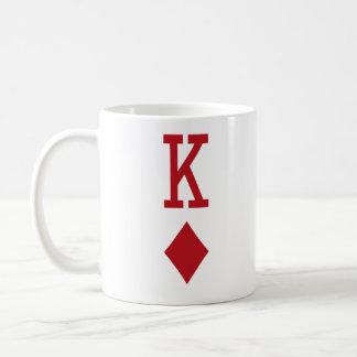 King of Diamonds Red Playing Card Coffee Mug