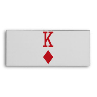 King of Diamonds Red Playing Card Envelope