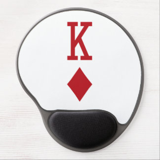 King of Diamonds Red Playing Card Gel Mouse Pads