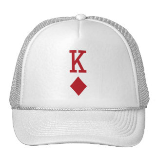 King of Diamonds Red Playing Card Trucker Hat