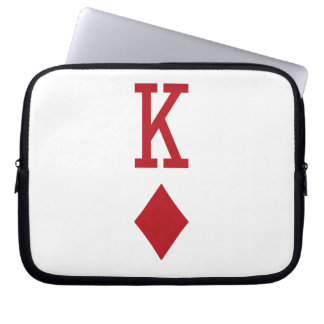 King of Diamonds Red Playing Card Laptop Sleeve