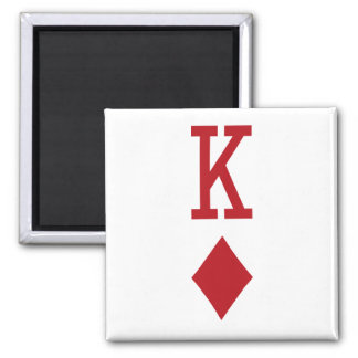King of Diamonds Red Playing Card Refrigerator Magnets