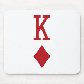 King of Diamonds Red Playing Card Mouse Pads