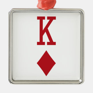 King of Diamonds Red Playing Card Ornament