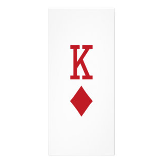 King of Diamonds Red Playing Card Customized Rack Card
