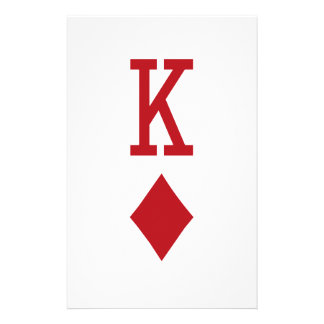 King of Diamonds Red Playing Card Stationery