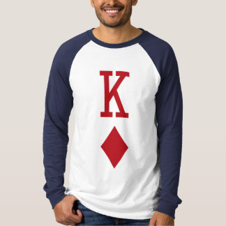 King of Diamonds Red Playing Card Tee Shirt