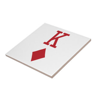 King of Diamonds Red Playing Card Tiles