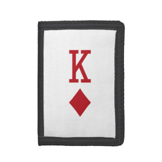 King of Diamonds Red Playing Card Wallets