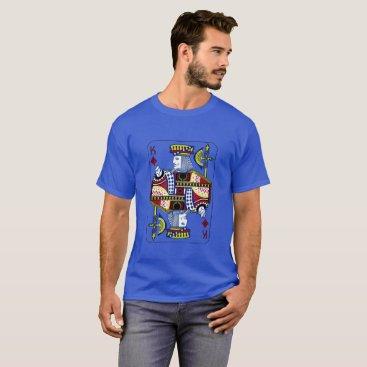 "galxc_designs ""King of Diamonds"" Royal Blue T-Shirt"