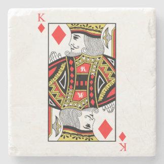 King of Diamonds Stone Coaster