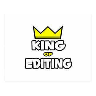 King of Editing Postcard
