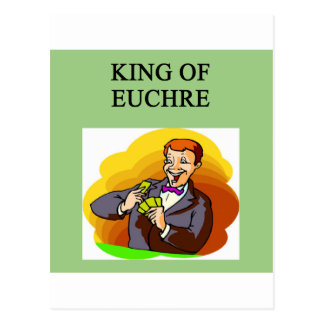 king of euchre postcard