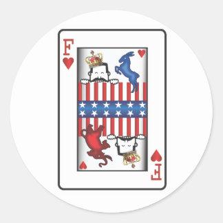 King of F Sticker