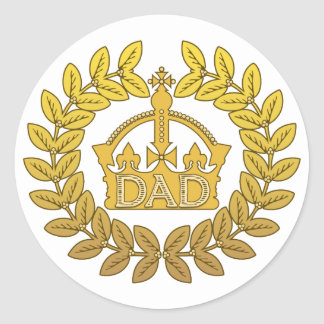 King of Father's Day Classic Round Sticker