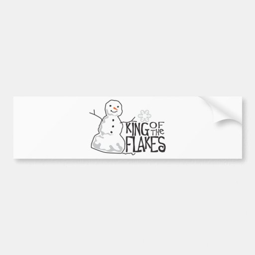 King Of Flakes Bumper Sticker