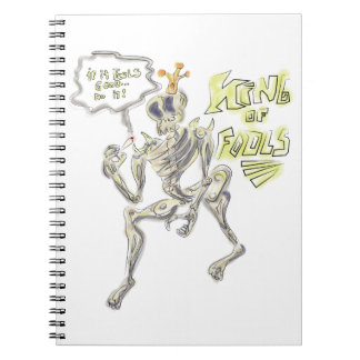 King of Fools Sketch Book Spiral Notebook