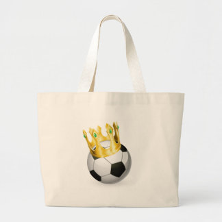 King of football soccer canvas bag
