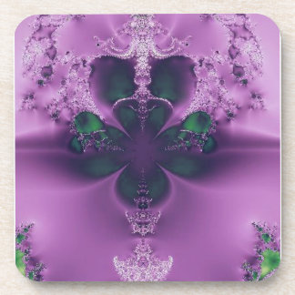 King of Four Leaf Clovers Abstract Drink Coaster