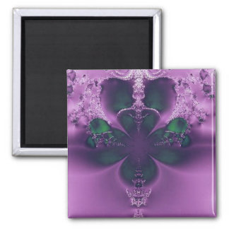 King of Four Leaf Clovers Abstract Magnet