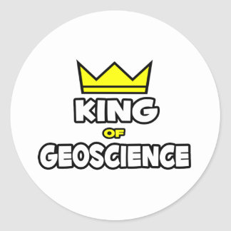 King of Geoscience Classic Round Sticker