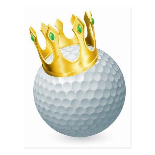King of golf postcard
