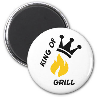 King of Grill 2 Inch Round Magnet