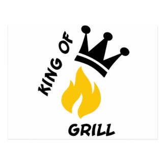 King of Grill Post Card