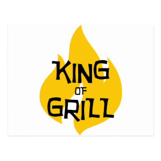 King of Grill Postcard