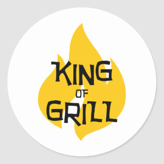 King of Grill Sticker