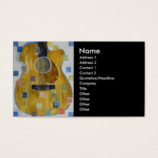 King of Guitars Business Card