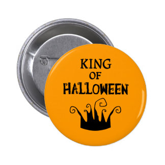 King of Halloween Button