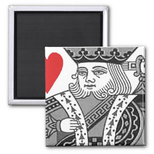 king of hearts 2 inch square magnet
