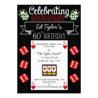 King of Hearts 60th Birthday Party Invitation