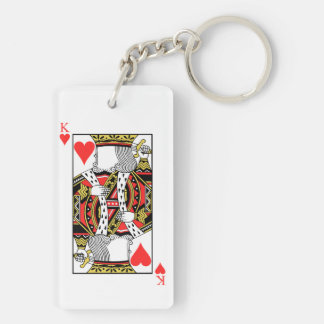 King of Hearts - Add Your Image Keychain