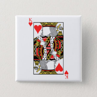 King of Hearts - Add Your Image Pinback Button