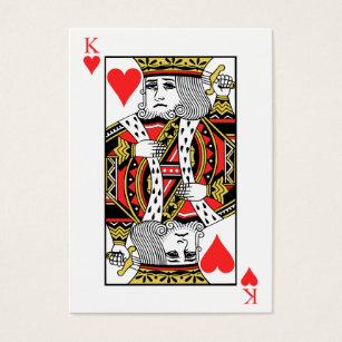 King of hearts business cards templates zazzle king of hearts business card colourmoves Images