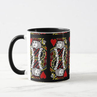 King of Hearts Design Coffee Mug