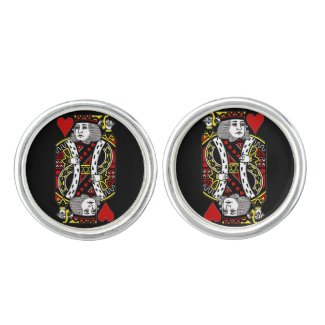 King of Hearts Design Cuff Links