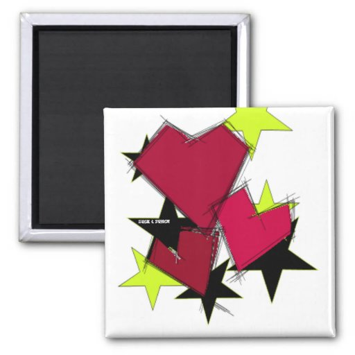 King of Hearts Mag 2 Inch Square Magnet
