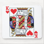 """King of Hearts Mouse pad<br><div class=""""desc"""">The king of hearts mousepad is an excellent accessory for the online card player.</div>"""