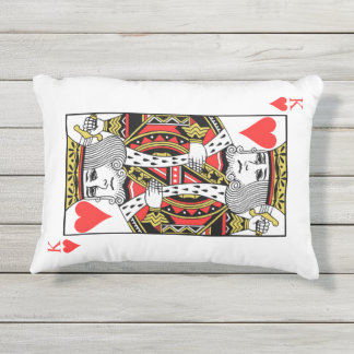 King of Hearts Outdoor Pillow