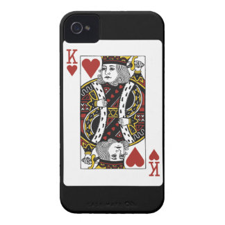 king of hearts playing card iPhone 4 Case-Mate case