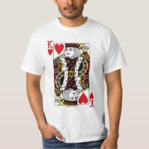 King Of Hearts Playing Card T-Shirt