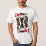 King Of Hearts Playing Card Tee Shirt