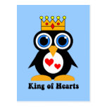 king of hearts post card